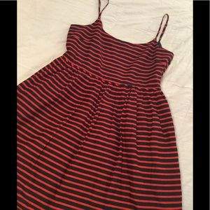 J Crew Darby striped dress size 14 navy and red